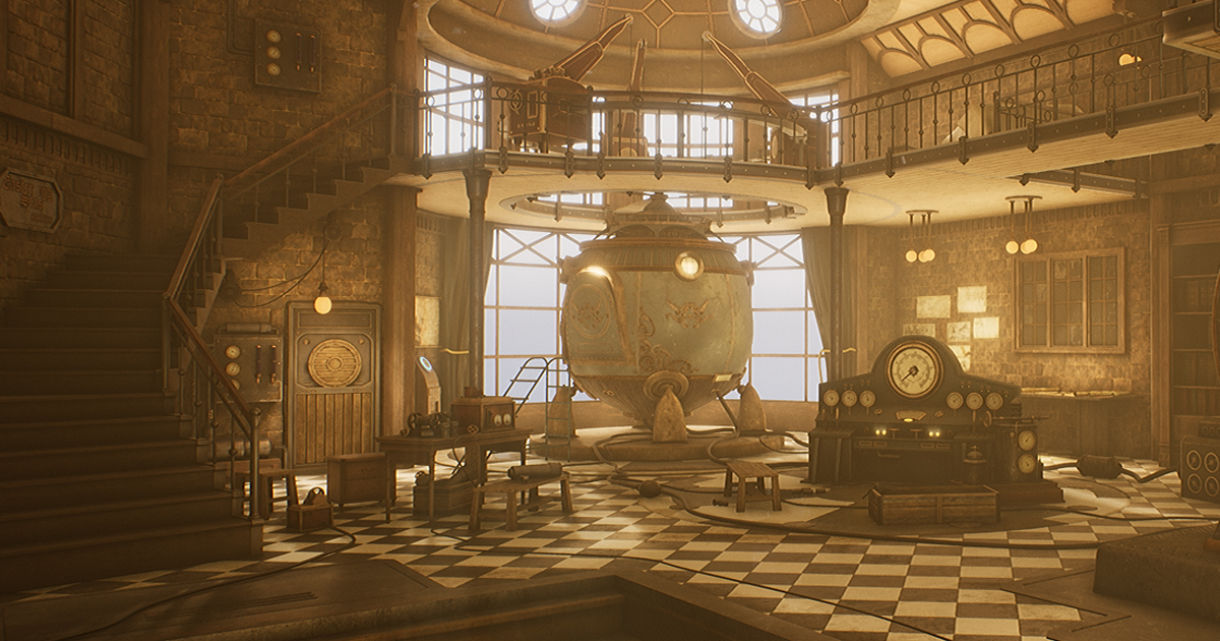 Making a Steampunk Lab in UE4: Modeling & Texturing