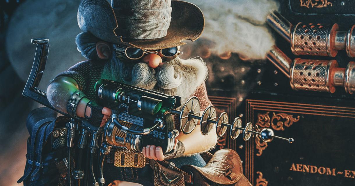 Laser Cowboy: Modeling & Texturing in Blender