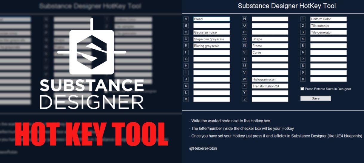 Substance Designer Hotkey Tool