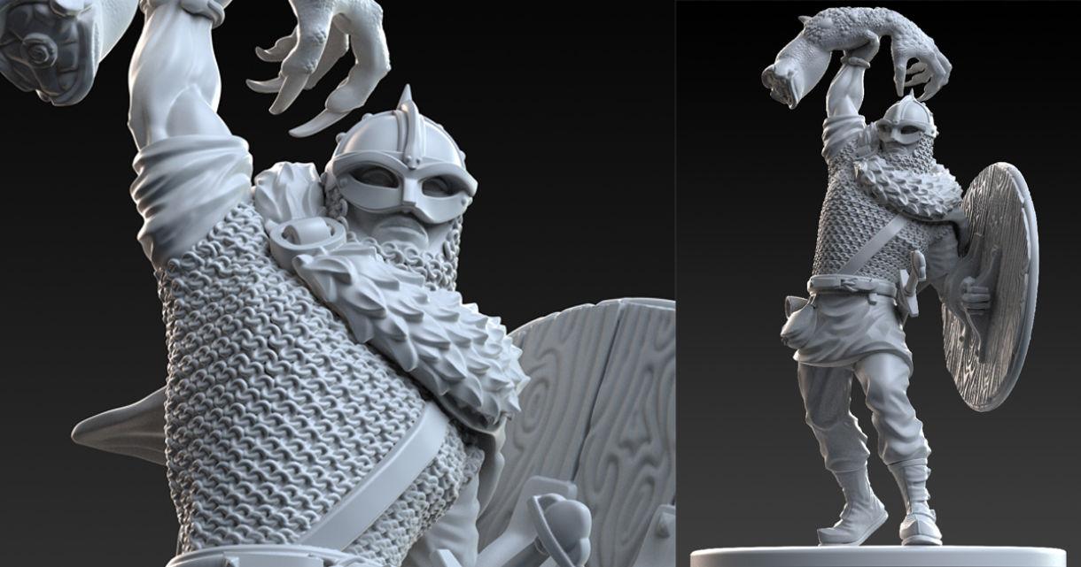 Sculpting a Beowulf Miniature in ZBrush