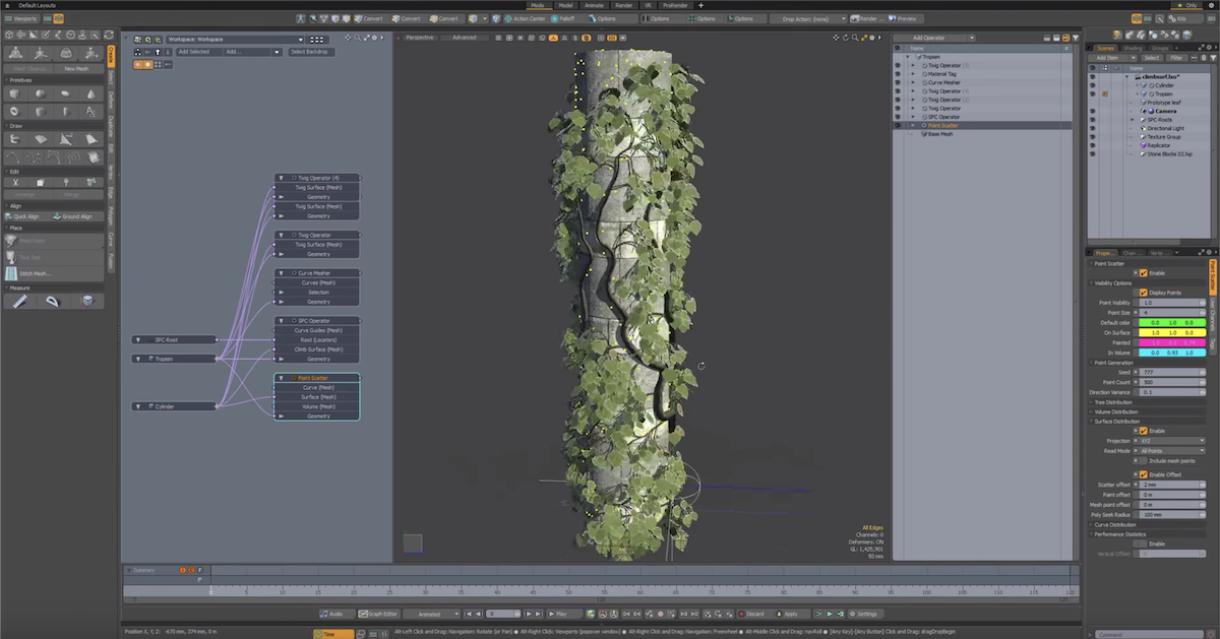 Procedural Tree Generator for Modo