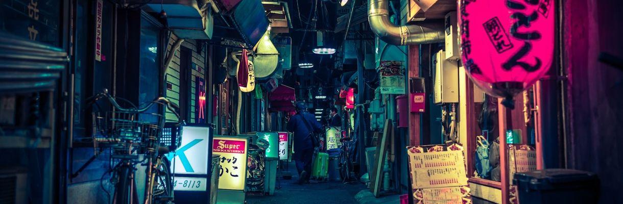 Japanese Street Scene: Details and Set Dressing