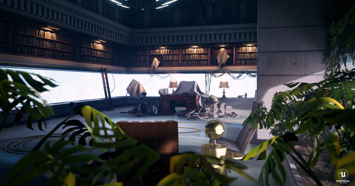 A Sci-Fi Room: Blueprint, Lighting, Vegetation