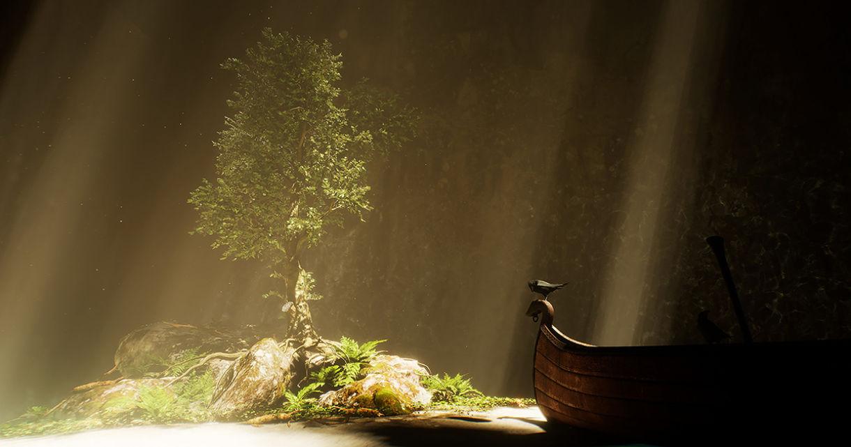 UE4 Scene: Materials, Lighting, Water